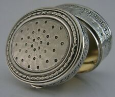 More details for wonderful solid silver pill snuff box c1910 art deco antique