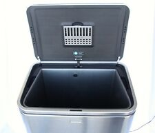 SIMPLEHUMAN 40L Sense Deluxe Touch Free Trash Can Silver 10.6 Gal Powered 9VDC