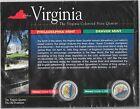 2000 Philadelphia & Denver Mint Virginia Colorized State Quarters COA Sealed