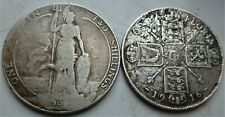 2 X BRITISH  STERLING SILVER  FLORINTWO ( SHILLINGS)