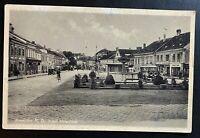 AK Fotographie AMSTETTEN Adolf Hitlerplatz Autobus Autos Feldpost 1941