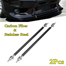 2x Black Adjustable Car Front Bumper Lip Splitter Rod Strut Tie Support Bar 7.9""