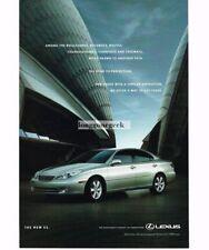 2005 LEXUS ES Silver 4-door Vintage Print Ad