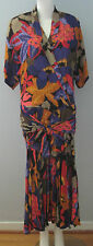 Jackie Bernard for EKLEKTIC Size 12 Multi-Color Dress (Made in Canada)