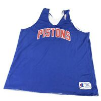 Vintage 80s Champion NBA Detroit Pistons Practice Penny Men XXL Made In USA (A1)