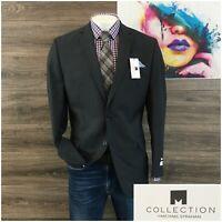 New Michael Strahan Mens Sport Coat Blazer Wool Two Button Jacket Size 44L
