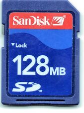 GENUINE  128MB  SANDISK  SD  MEMORY CARD
