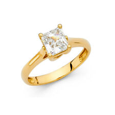 14k Yellow Gold 1.25 CT Princess Cut Diamond Solitaire Engagement Ring