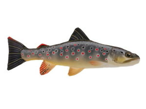 Trout Brown Trout 14 3/16in Fish Plush Pillow Predator Fish Trout