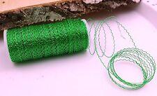 (0,11€/m) 10m Blumendraht  grün Dekodraht 0,30mm Floristendraht Bouillondraht