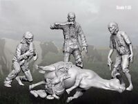 1/35 Resin Zomibes of 3 W/Dead Cow Unpainted Unassembled BL231