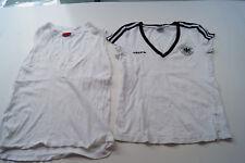 2x Damen T Shirt Top von Adidas DFB Deutschland und HUGO BOSS Gr.32 XS S weiss