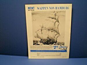 """LINDBERG 1965 """"Wappen Von Hamburg Sailing Ship """"single sided dealer sales flyer"""