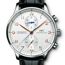 IWC 3714 Portuguese Chronograph Steel Watch & Deployant Buckle IW371401