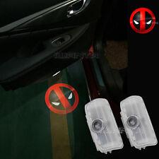 2x X-men Deadpool Logo Door LED Laser Shadow Light For Infiniti G/M Series FX/EX