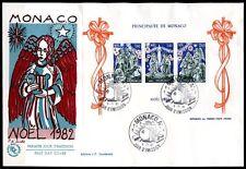 Weihnachten. Gemälde. FDC-Brief. Monaco 1982