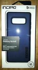 NEW Incipio DUALPRO Dual Layer Phone Case for Samsung Galaxy Note8 Midnight Blue