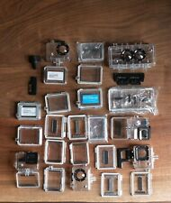 GoPro Hero assorted parts and accessories, cases, batteries, 3D - big lot