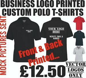 custom personalised polo shirt printing mens workwear staff logo printed company