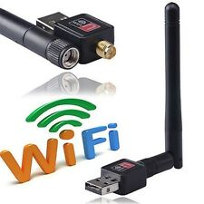 USB WLAN WIFI WIRELESS LAN CHIAVETTA DONGLE ADATTATORE 300 Mbit SMA + ANTENNA N Nuovo Top