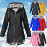 Womens Long Sleeve Hooded Wind Jacket Outdoor Waterproof Rain Coat Plus Size