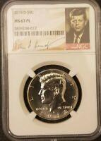 2018 D 50c NGC JFK Holder MS67 PL Kennedy Half Dollar RARE Proof Like Coin!