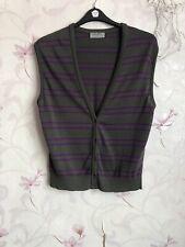Jaeger Women 100% Wool Gillet Sleeveless Cardigan Size L