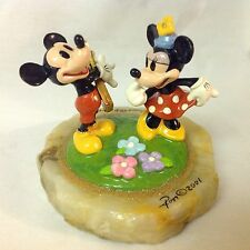 Disney Ron Lee MICKEY & MINNIE GUITAR DUET LE Figure Statue Figurine Onyx Base