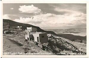 Old City Jail Sliding Down the Mountain in Jerome AZ RP Postcard