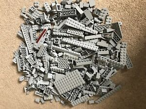 500g GENUINE LIGHT GREY LEGO BULK LOT OF ASSORTED BRICKS PARTS & PIECES