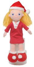 "14"" Aurora Rag Doll XMAS CHRISTMAS SANTA GIRL Soft Toy NEW"