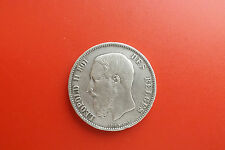 *Belgien 5 Francs 1870 Silber * Leopold II.(Schub 2)