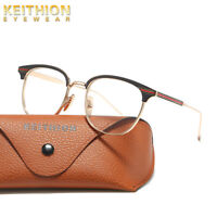 KEITHION Men Womens Eyeglass Frame Glasses Retro Spectacles Clear Lens Eyewear