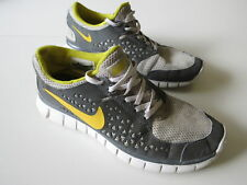 Women's NIKE 'Free Run+' Sz 8 US Runners Grey Yellow ExCon | 3+ Extra 10% Off