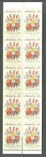 """AUSTRALIA 1990, """"THINKING OF YOU"""" FLOWERS, Scott 1164c PERF 14 1/2 BOOKLET, MNH"""