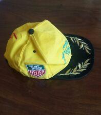 Berretto TAG HEUER Grand Prix originale rarissimo in tela gialla con ricami