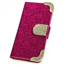 STRASS Handy Tasche HTC One Max Pink Schutz hülle Flip Cover Etui Case Bag M215