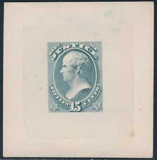 #O31TC2d 15¢ JUSTICE GOODALL TRIAL COLOR DIE PROOF SUPERB ONLY 5 EXIST BS9339