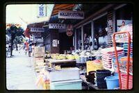 Street Scene and Store in Japan 1970's Original Slide aa 2-18b