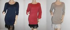 Topshop Long Sleeve Casual Round Neck Dresses for Women