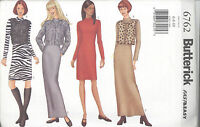 Butterick 6762 Misses'/Miss Petite Jacket, Vest & Dress 6, 8, 10  Sewing Pattern