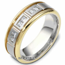 14K TWO TONE GOLD DIAMOND MENS WEDDING BANDS,TWO TONE GOLD MENS WEDDING RINGS