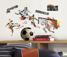MENS SOCCER CHAMPION 53 Wall Decals Boys Player Room Decor Stickers Ball Sports