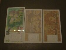 LOT 3 BILLETS 500 FR P.ET M.CURIE 1994-20 FR DEBUSSY 1997-10 FR BERLIOZ1975