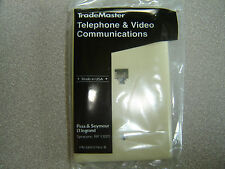 LOT of 2 Trademaster TPTE1-I RJ11 One Phone Jack Single Ivory Plate NEW in Pack