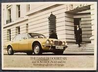 DAIMLER DOUBLE 6 & SOVEREIGN 4 Door Sales Brochure 1976
