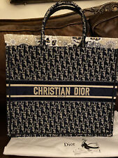 CHRISTIAN  DIOR BOOK TOTE BAG BLUE