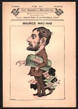 Revue. Les Hommes d'Aujourd'hui n° 295. Mac-Nab. Fernand Fau. 1885. Chat Noir