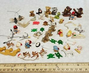 LOT of  BUG HOUSE MINIATURES AND OTHERS plastic glass china animals figures