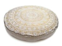 35'' Round Mandala Floor Pillow Cover Ottoman Pouf Cover Daybed Cotton Cushion